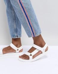 Teva White Original Universal Flat Sandals - White