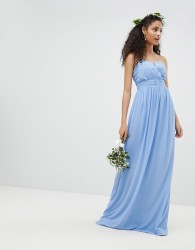 TFNC Bandeau Maxi Bridesmaid Dress - Blue