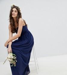 TFNC Bandeau Maxi Bridesmaid Dress - Navy