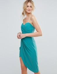 TFNC Bandeau Ruched Front Bridesmaid Dress - Blue