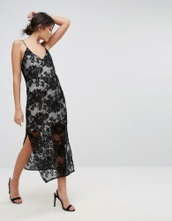 TFNC Lace Cami Midi Dress - Black