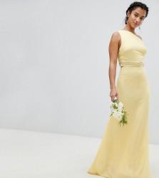TFNC Petite Embellished Maxi Bridesmaid Dress - Yellow