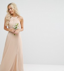 TFNC Petite Wedding Pleated Maxi Dress - Pink
