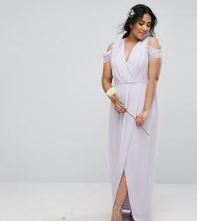 TFNC Plus Wedding Wrap Maxi - Purple