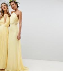 TFNC Tall Embellished Maxi Bridesmaid Dress - Yellow