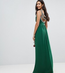 TFNC Tall WEDDING Embellished Back Maxi Dress - Green