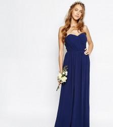 TFNC WEDDING Bandeau Chiffon Maxi Dress - Navy