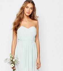 TFNC WEDDING Bandeau Chiffon Mini Dress - Green
