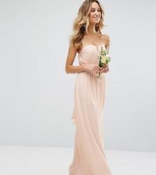 TFNC WEDDING Bandeau Maxi Dress - Pink