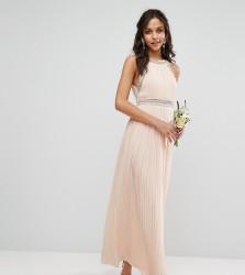 TFNC WEDDING Embellished Neck Maxi Dress - Pink