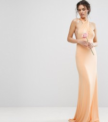 TFNC WEDDING Multiway Maxi Dress - Orange