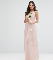 TFNC WEDDING Wrap front Maxi Dress with Embellishment - Pink