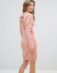 The English Factory Jumper Dress With Back Strap Detail - Pink
