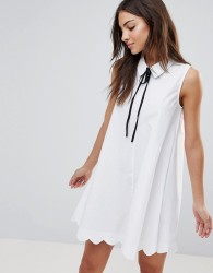The English Factory Poplin Collar Shift Dress - White