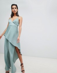 The Jetset Diaries asymmetric wrap maxi dress - Green