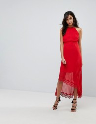 The Jetset Diaries Bellona Hi-Lo Maxi Dress - Red
