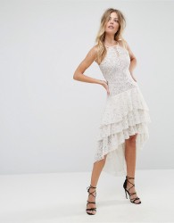 The Jetset Diaries Dalliance Hi Lo Dress - White