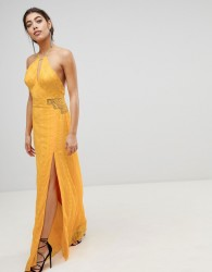 The Jetset Diaries Embroidered Maxi Dress - Yellow
