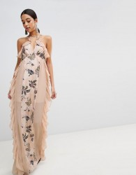 The Jetset Diaries Floral Panel Maxi Dress - Pink