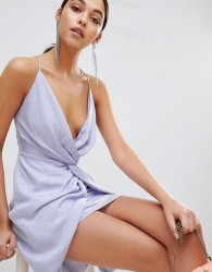 The Jetset Diaries Knot Front Mini Dress - Purple