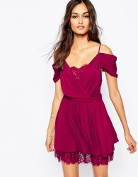 The Jetset Diaries Mantra Dress in Berry - Red