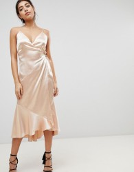 The Jetset Diaries Midi Wrap Dress - Cream