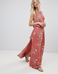 The Jetset Diaries Oasis Floral Maxi Dress - Red