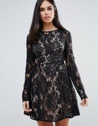 The Jetset Diaries Pizzo Mini Dress - Black
