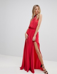 The Jetset Diaries Shale Thigh Split Maxi Dress - Red