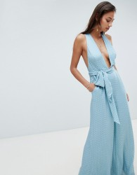 The Jetset Diaries tie jumpsuit - Blue