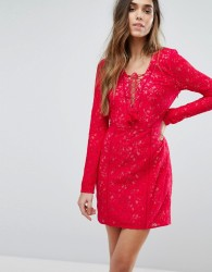 The Jetset Diaries Zamira Mini Dress - Red