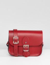 The Leather Satchel Company single buckle mini cross body bag - Red