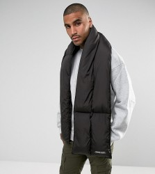 The New County Puffer Scarf In Black - Black