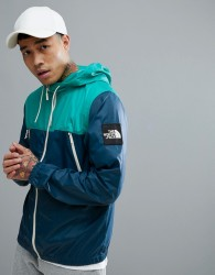 The North Face 1990 Mountain Jacket Hooded In Blue/Green - Blue