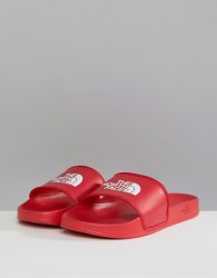 The North Face Base Camp Sliders II in Red/White - Red