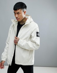 The North Face Mountain Q Jacket Waterproof Hooded In Vintage White - White