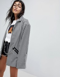 The Ragged Priest Blazer In Check - Black