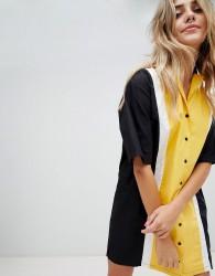 The Ragged Priest bowling shirt dress - Yellow