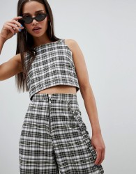 The Ragged Priest cropped top in check - Multi