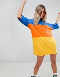 The Ragged Priest oversize t-shirt dress in colour block - Multi