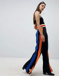 The Ragged Priest wide leg track pants with side stripe - Multi