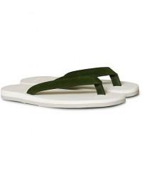 The Resort Co Suede Flip-Flop Green/White men 45 Hvid