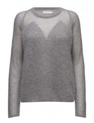 Thick And Thin Kid Mohair Knit Top