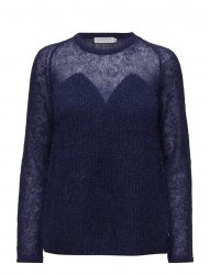 Thin And Thick Kid Mohair Knit Top