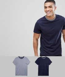 Threadbare 2 Pack Logan T-Shirt - Navy