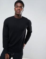 Threadbare Allover Texture Knit Jumper - Black