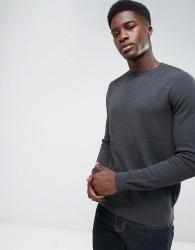 Threadbare Allover Texture Knit Jumper - Grey