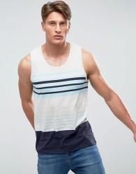 Threadbare Block Stripe Vest - Blue