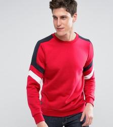 Threadbare Cut and Sew Colour Sweat - Red