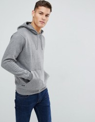 Threadbare Embossed Chest Hoodie - Grey